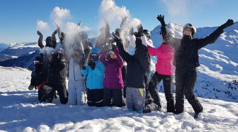 Unterricht im Schnee macht Spaß