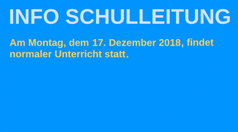 Info Schulleitung