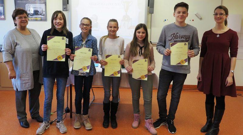 Die Sieger des Vorlesewettbewerbs 2017