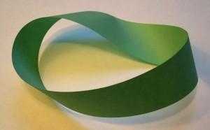 Ein Möbiusband - Dieser Papierstreifen hat nur eine Seite