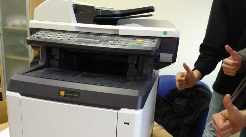Schülervertretung endlich mit Drucker