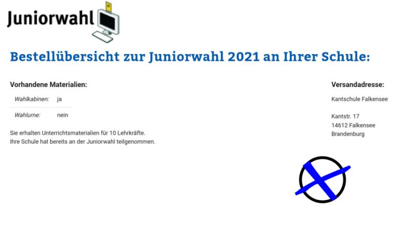 Juniorwahl-Teilnahme ✔️
