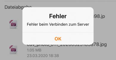 moodle-App Verbindungsfehler